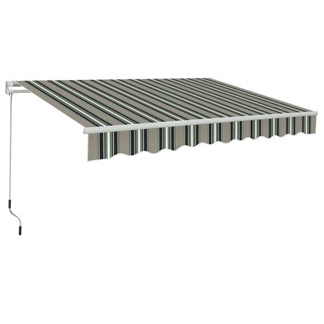 awning manual manual awning canopy garden patio shade shelter aluminium