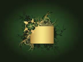 Flower Connect The Dots - green and gold background vector art amp graphics