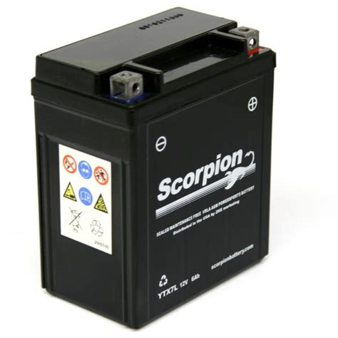 Suzuki Gz250 Battery Replacement Ytx7l Bs Battery Scorpion 12 Volt Motorcycle Batteries