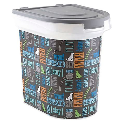 bed bath and beyond containers word play pet food container bed bath beyond