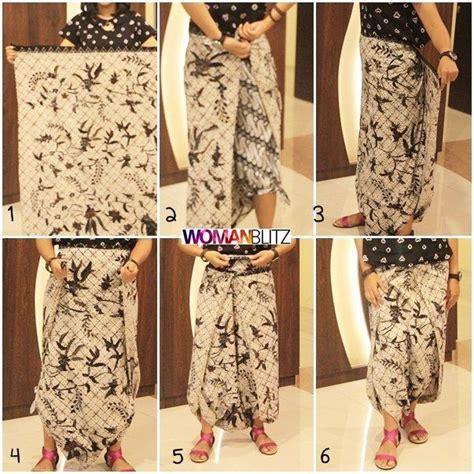 tutorial memakai kain batik 100 gambar modifikasi kain panjang batik dengan model
