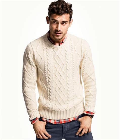 mens sweater pattern knit in the round h men s winter 2012 2013 lookbook cable knit white