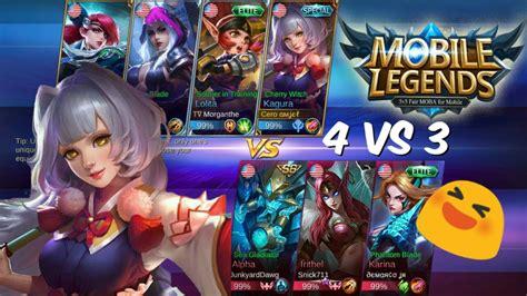 custom match 4vs3 mobile legends