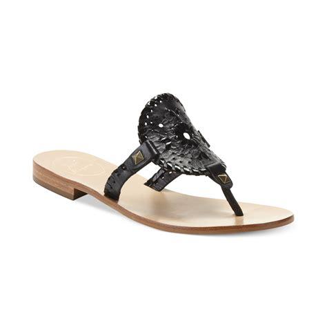 black sandals flat rogers georgica flat sandals in black black