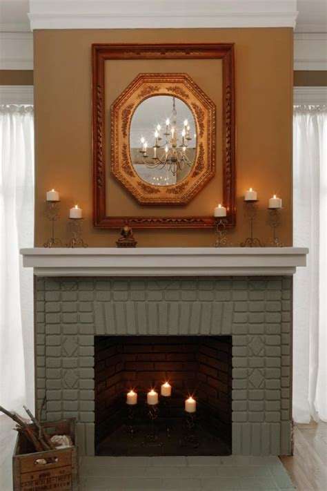 fireplace colors painted brick fireplace makeover how tos diy