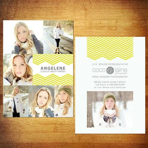 Senior Rep Cards Free Templates by 5x7 Senior Rep Cards Psd Template Zig Zag To Match Your