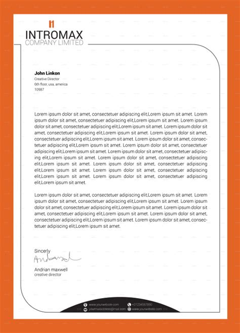 Business Letterhead Vector Free 15 Company Letterhead Templates Free Sle Exle Format Free Premium Templates
