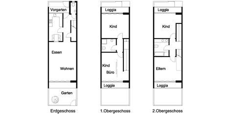reihenhaus grundriss voglerdakowski architekten 2 h 246 fe