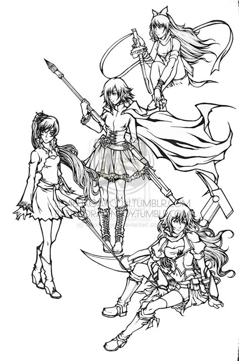 rwby character coloring pages coloring pages