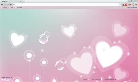 rose themes for google chrome 14 fun and romantic google chrome heart themes for
