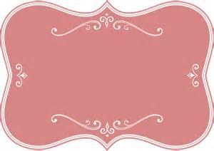 clipart decorative pink flourish frame