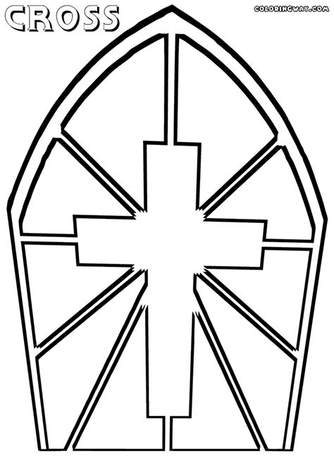 cross color catholic cross coloring pages www imgkid the image