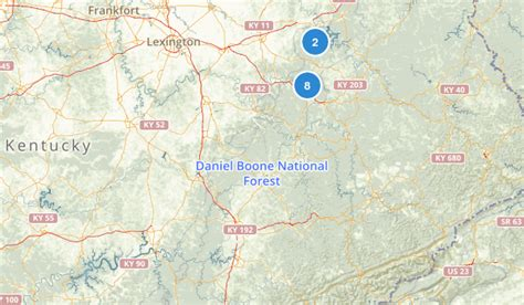 kentucky forest map best friendly trails in daniel boone national forest