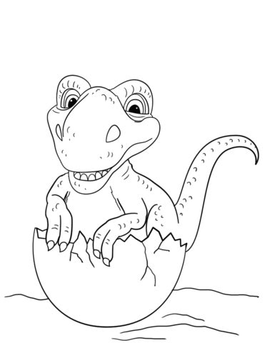 dancing dinosaur coloring page dinosaur hatching from egg coloring page free printable