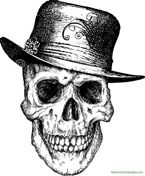 skull with hat tattoo designs skull designs page 2 best cool designs