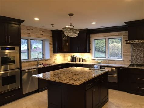 espresso shaker kitchen cabinets our shaker espresso cabinets combine the deep richness of