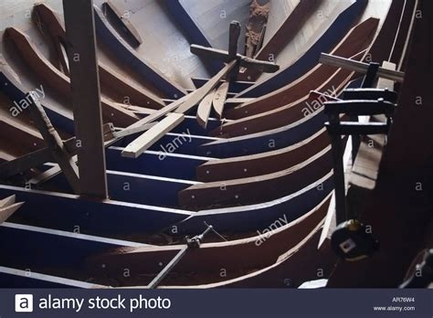 wooden boat frame wooden boat frame construction stock photos wooden boat