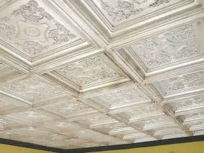 coffered look faux tin ceiling tile td03 antique white 25