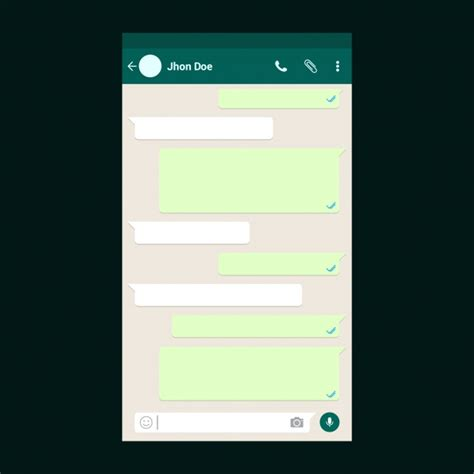 chat template whatsapp chat template vector premium