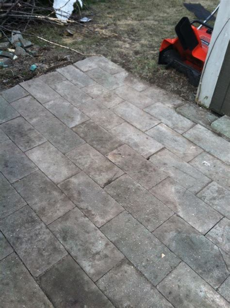 How To Lay Patio Pavers On Dirt Mobile Home Renovation On A Budget How To Build A Paver Patio