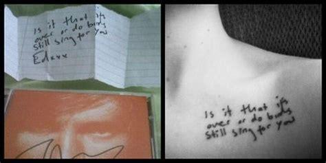 tattoo ed sheeran lyrics ed sheeran autumn leaves lyrics tattoo tattoos