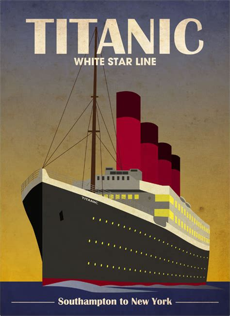 poster with deco print from titanic liner deco print poster s704 ebay