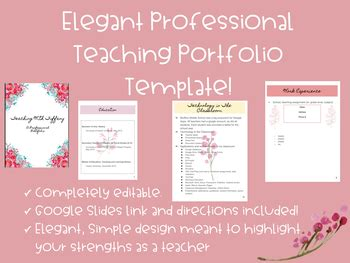 professional teaching portfolio template editable