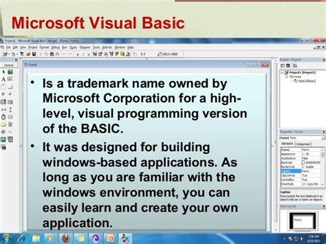 simple visual basic program lesson 1 visual basic programming