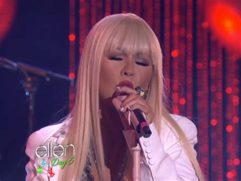 christina aguilera swing song christina aguilera performs quot just a fool quot on ellen talks