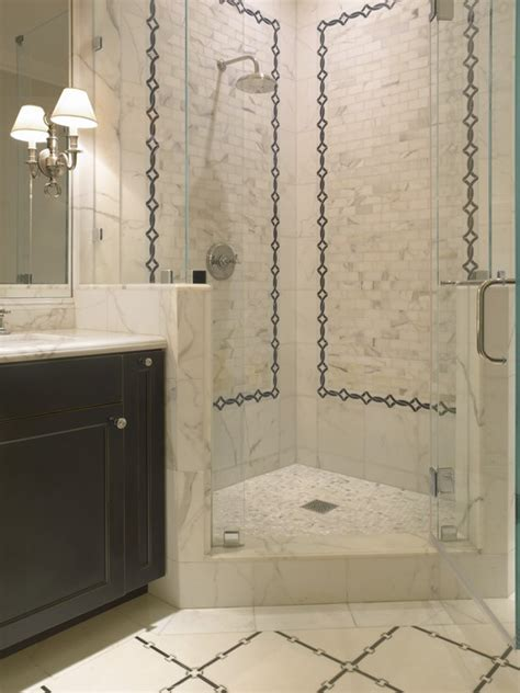 Bathroom Corner Shower Corner Shower Transitional Bathroom Sdg Architects