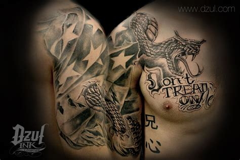 don t tread on me tattoo don t tread on me fully custom with modified snake