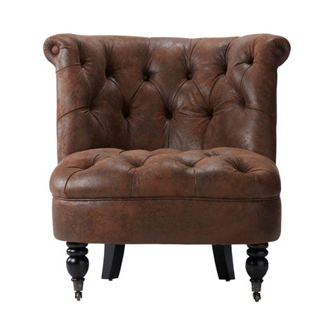home decorators accent chairs home decorators collection flanders brown faux suede