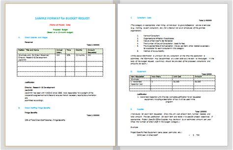 format budget proposal document templates october 2015