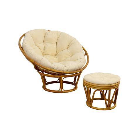 68 Off Pier 1 Pier 1 Papasan Chair With Footstool Chairs Papasan Ottoman