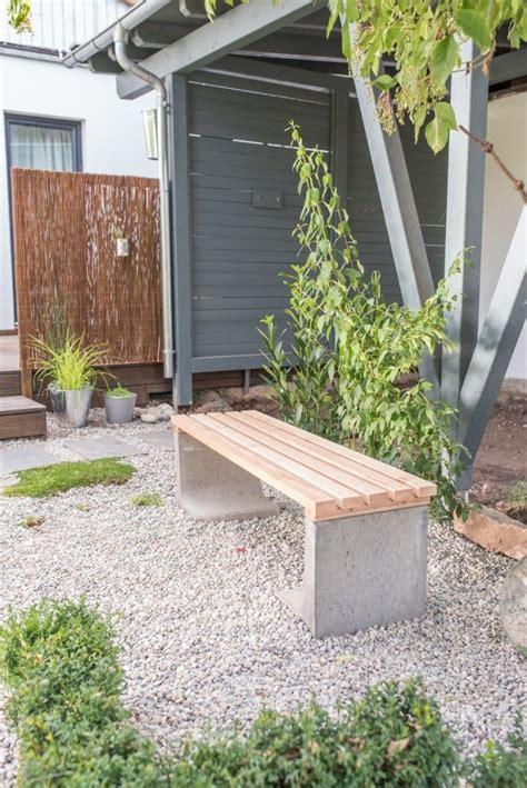projekte carport selber bauen diy gartenbank mit beton und holz garten selber
