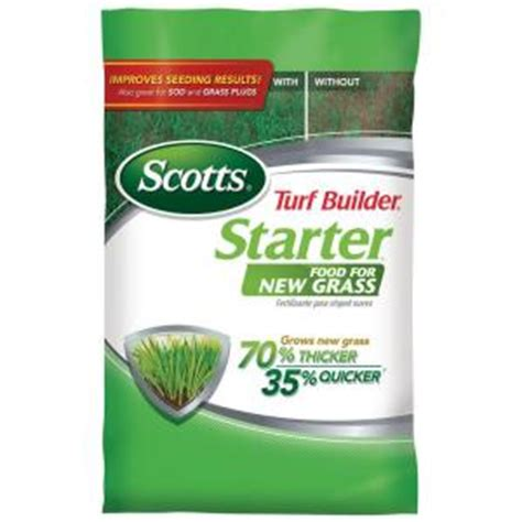 scotts 15 lb 5 000 sq ft turf builder starter brand