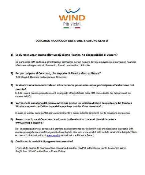 wind telecomunicazioni sede legale ricarica wind e vinci gear s batista70phone
