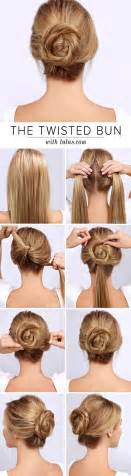 Easy hairstyles for lazy girls the simple twisted bun updo