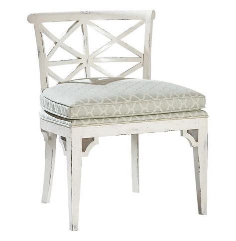 orleans cottage distressed white dining chair