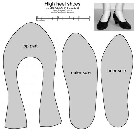 shoes pattern design software sd female high heel shoes pattern by scargeear for bjd