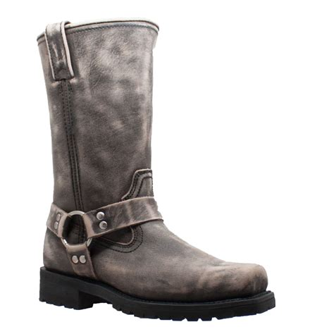 wide motorcycle boots ride tecs men s brown 13 quot stonewash harness motorcycle