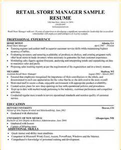 Retail Store Manager Resume Example Manager Resume Retail Retail Store Manager Sample Resume1
