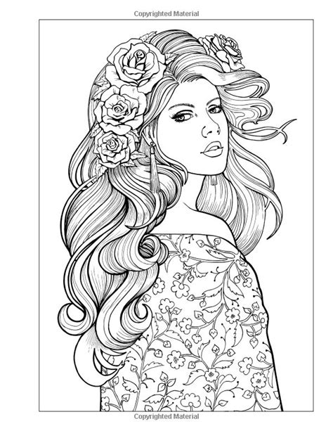 hair dreams coloring book for adults books 1000 images about sketches on coloring