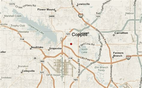 coppell texas map coppell location guide