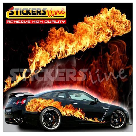 lada effetto fiamma adesivi fiamme real effect adesivo fiamma fuoco per auto
