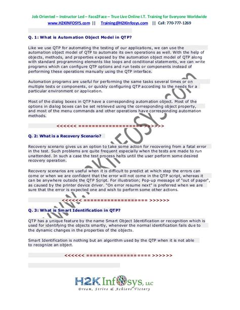 qt programming interview questions latest qtp interview questions and answers top 200 uft