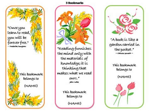 Famous Quote Wall Stickers printable bookmarks template printable bookmarks