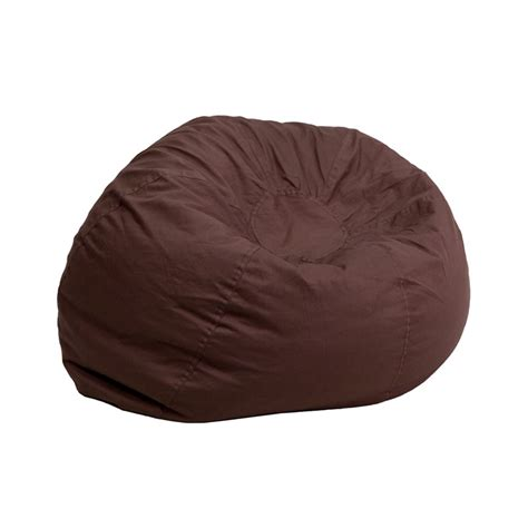 small bean bag chair small solid brown bean bag chair from renegade