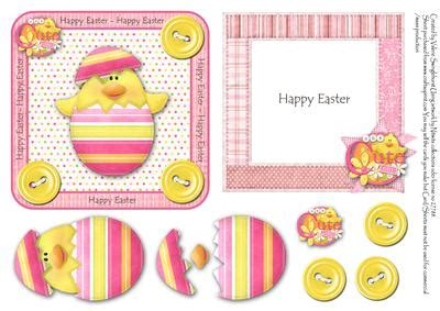 printable easter card inserts chick hatching happy easter card front with insert