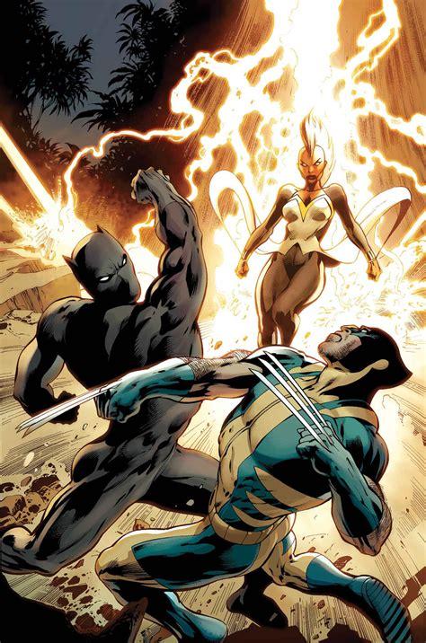 black xmen black panther storm wolverine alan davis avengers